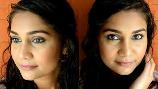 Simple everyday Blue Smokey Eyes | Beginners Makeup Step By Step in Hinglish| Nidhi Katiyar