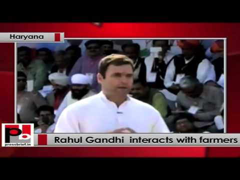Rahul Gandhi to Haryana farmers- Congress doesn't play politics of caste and religion.
