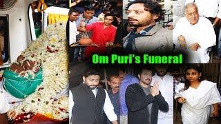 Amitabh Bachchan Spotted Om Puri's Funeral | Anil Kapoor, Vidya Balan, Sonu Sood