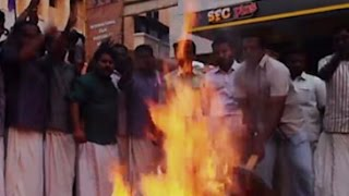 Protest at IFFK against SC order to play national anthem before screening of films