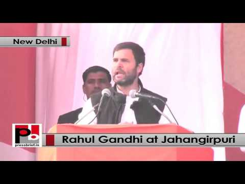 Delhi polls- Rahul Gandhi at Jahangirpuri, lashes out at BJP, AAP