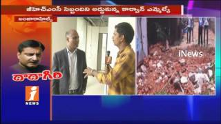 Producer Potluri V Prasad Face TO Face On GHMC Demolition Of Compound Wall In Banjarahills | iNews