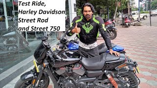 Test Ride, Harley Davidson Street Rod and Street 750. What to BUY?