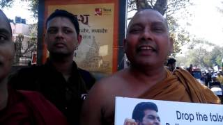 #JusticeForRohit- Buddhist Monks joined the protest in support of Rohit Vemula