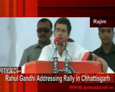 Rahul Gandhi in Rajim(Chhttisgarh), 11th Apr 2009