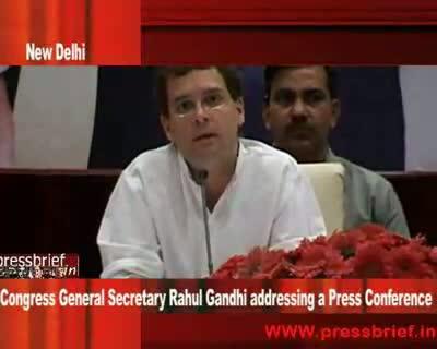 Rahul Gandhi at Press Conference in New Delhi 5th may 2009 Part 02