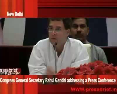 Rahul Gandhi at Press Conference in New Delhi 5th may 2009 Part 03