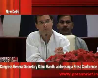 Rahul Gandhi at Press Conference in New Delhi 5th may 2009 Part 05