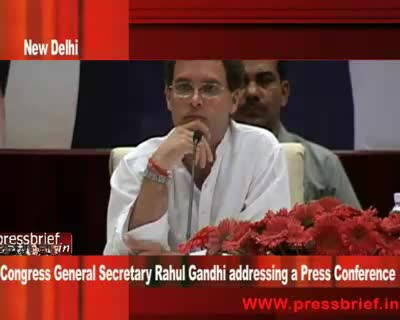 Rahul Gandhi at Press Conference in New Delhi 5th may 2009 Part 06