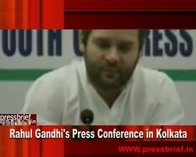 Rahul Gandhi Press Conference in Kolkata,16th September 2010