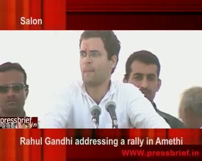 Rahul Gandhi in Amethi Salon UP 18 April 2009