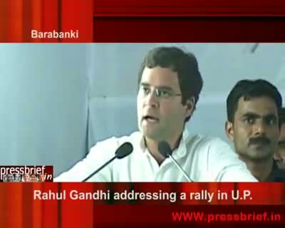 Rahul Gandhi in Barabanki (UP) 27th April 2009 (01)
