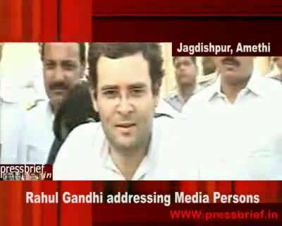 Rahul Gandhi in Amethi 17th July 2009