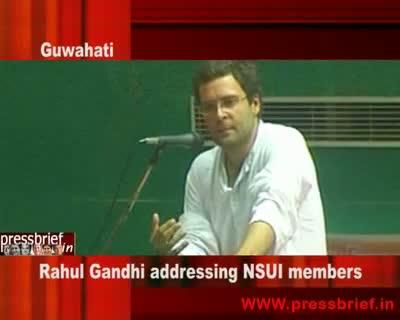 Rahul Gandhi in Guwahati 18th July 2009