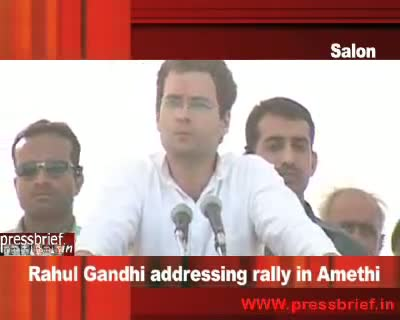 Rahul Gandhi in Amethi, 18th April 2009