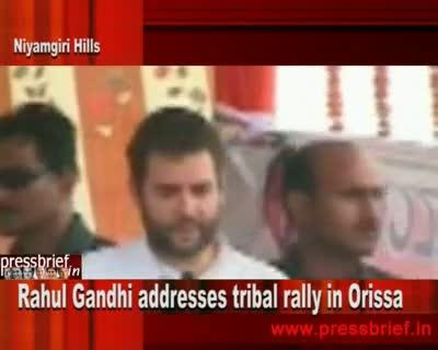 Rahul Gandhi in Orissa,26th August 2010