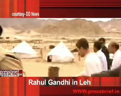 Rahul Gandhi in Leh on 16th August 2010