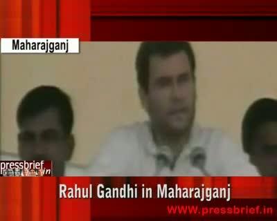 Rahul Gandhi in Maharajganj,3rd April 2009