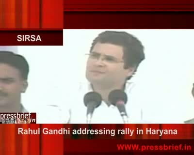 Rahul Gandhi in Sirsa(haryana)on 1st May 2009