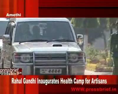 Rahul Gandhi Inaugurates Health Camp for Artisans