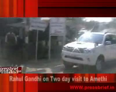 Rahul Gandhi in Amethi 28th Jan.2010