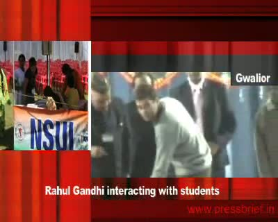 Rahul Gandhi interacting with students(Gwalior) 18th January 2010