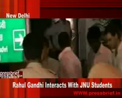 Rahul Gandhi Interacts With JNU Students 30 September 2009