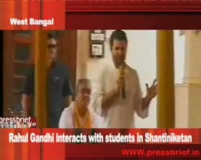 Rahul Gandhi interacts with students in santiniketan, 14th September 2010