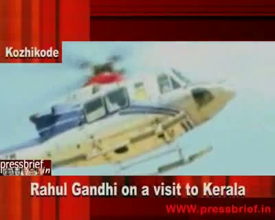 Rahul Gandhi on a visit to Kerala 1st 10th May 2010