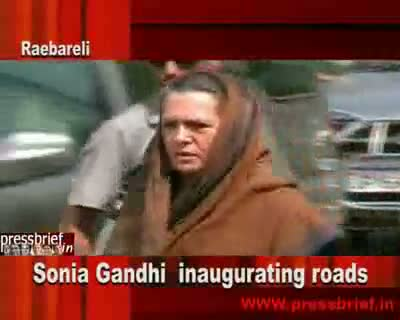 Sonia Gandhi in Raebareli.18 May 2010