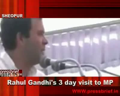 Rahul Gandhi visits to MP, 4th October 2010