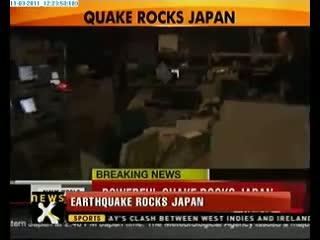 Japan hit by Tsunami
