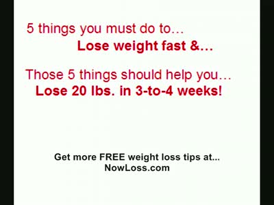 Lose Weight Fast - How To Lose 20 Pounds In 3 Weeks