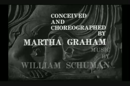 Martha Graham Night Journey Clip for DGC