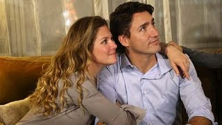 Justin Trudeau watches Election Results
