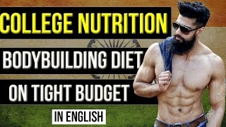 FREE BODYBUILDING DIET for Students in COLLEGE and HOSTEL (English) | Bodybuilding on Budget