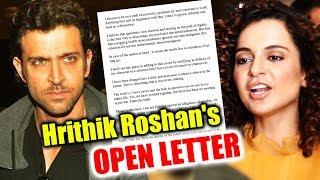 Hrithik Roshan BREAKS His Silence On Kangana In An OPEN Letter