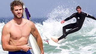 Liam Hemsworth Strips Off His WETSUIT After Surfing