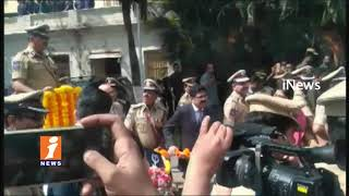 Police Academy Grand Farewell To DGP Anurag Sharma In Telangana Police Academy | iNews
