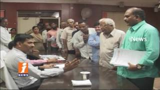 Pragati Developers Occupies Land in Sangareddy | Plot Owners Complaint To Collector | iNews