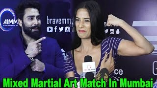 Manveer Gurjar & Poonam Pandey At Mixed Martial Art Match