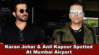 Karan Johar With Anil Kapoor Spotted At Mumbai Airport