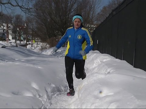 Road to Boston Marathon Caked in Snow and Ice News Video