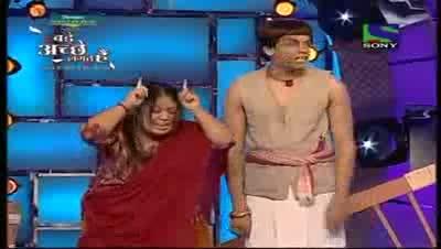 Comedy Circus ke Tansen 19th June 2011 Part 2 - Bharti As Mother India And Abhijeet Sawant As Beta