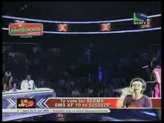 Seema Jha singing Aao Tumhe Chand Pe Le Jaye- X Factor India - Episode 16 - 8th Jul 2011