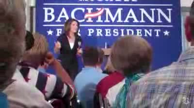 Michelle Bachmann speaks and Iowans voice their debt ceiling opinions
