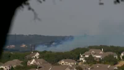 Fire in Steiner Ranch - View from Apache Shores