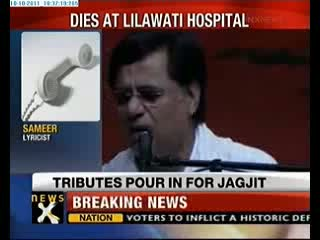 Ghazal Singer Jagjit Singh no more at 70.