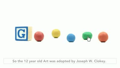 Art Clokey's 90th Birthday - Art Clokey Google doodle