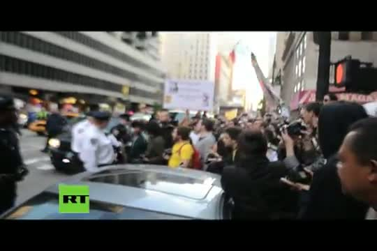 Occupy Wall Street protesters attacked and arrested at Times Square